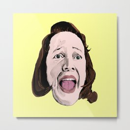 Crazy Annie Wilkes - Misery (Yellow) Metal Print