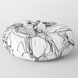 Boys kiss too Floor Pillow