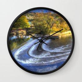 Pulteney Weir River Avon Wall Clock