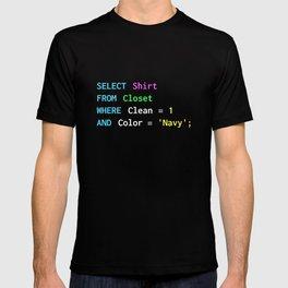 Funny SQL design for SQL programmers, DBA, and DB admins T-shirt