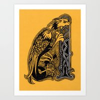 celtic Art Prints featuring celtic by Julia Menshikova