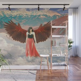 Lady of the Clouds Wall Mural