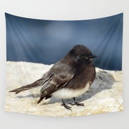 Black Phoebe Wall Tapestry