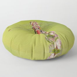 The red dragonfly Floor Pillow