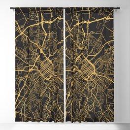 CHARLOTTE NORTH CAROLINA GOLD CITY TYPOGRAPHY Blackout Curtain