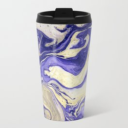 Painting marbled violet and golden Travel Mug