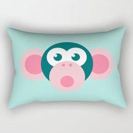 """Oops!"" Stylized Monkey - Zoo series Rectangular Pillow"