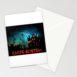 Halloween Fun Carpe Noctem Sieze the Night Haunted House Witch Stationery Cards