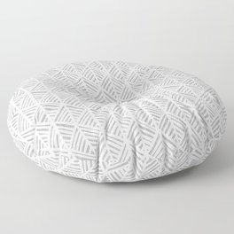 Abstract Leaf Pattern in Gray Floor Pillow