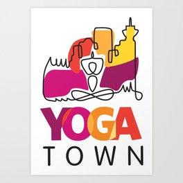 Yoga Town  Art Print