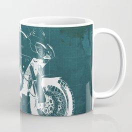 2010 Moto Guzzi Stelvio 1200 4V blue blueprint Coffee Mug