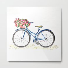 Spring bicycle Metal Print