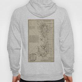 Vintage Map of Bermuda (1752) Hoody