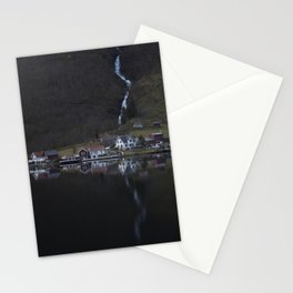 River that vanishes (Fjord) Stationery Cards