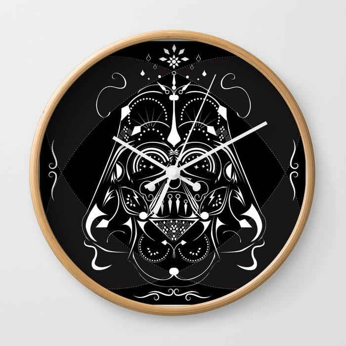 Darth vader on acid wall clock by midimoik society6 - Darth vader wall clock ...