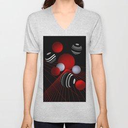 crazy lines and balls -11- Unisex V-Neck