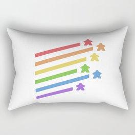Rainbow Meeples Board Rectangular Pillow