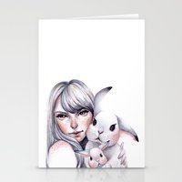 cuddle Stationery Cards featuring Cuddle! by Koanne Ko