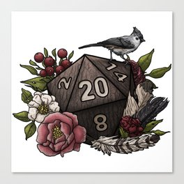 Druid Class D20 - Tabletop Gaming Dice Canvas Print