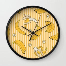 Yellow Banana Fruits Pattern Design Gift Wall Clock