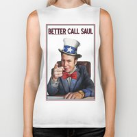 better call saul Biker Tanks featuring Better Call Saul by Magdalena Almero