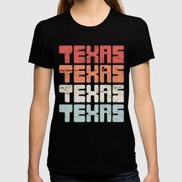Retro Vintage TEXAS Text T-shirt
