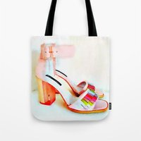 fringe Tote Bags featuring Fringe by Modern Swan