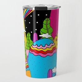 Night Sky Rainbows Travel Mug