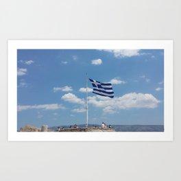 Greek Pride Art Print