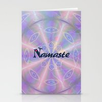 namaste Stationery Cards featuring Namaste by Stay Inspired