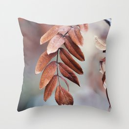 Leaves In Late Winter Throw Pillow