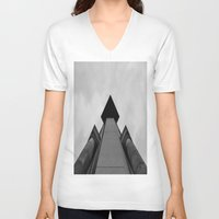 building V-neck T-shirts featuring Building  by Alyssa Gioia