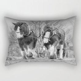 Working Horses Rectangular Pillow