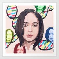 Ellen Page Art Print