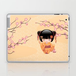 Japanese Ume Kokeshi Doll Laptop & iPad Skin