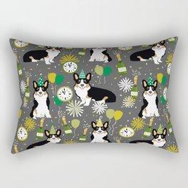 Tricorgi New Years Eve - NYE, tricolored corgi, corgi gift, corgi  lover Rectangular Pillow