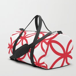 Interlocking Red Duffle Bag
