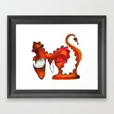 Hungry Fire Hydrant Framed Art Print
