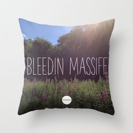 Bleedin Massiff Throw Pillow