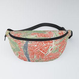 Prague map classic Fanny Pack