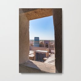 Unfinished Kalta Minor Minaret at Ichan Qala - Khiva, Uzbekistan Metal Print