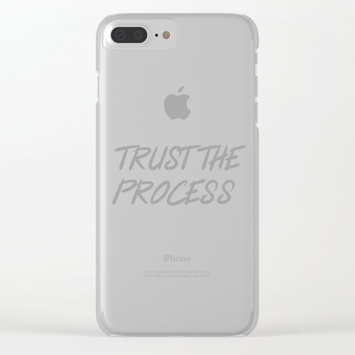 online retailer 17a5b c7e4d Trust The Process Workout Motivational Design Clear iPhone Case