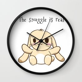 The Snuggle is Real Bunny Wall Clock