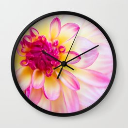 Dahlia Blossom Wall Clock