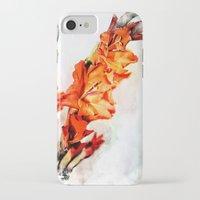 artsy iPhone & iPod Cases featuring gladioli Artsy by Artsy Arts By Rosanna.