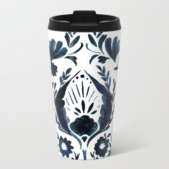 Nadia Flower Metal Travel Mug
