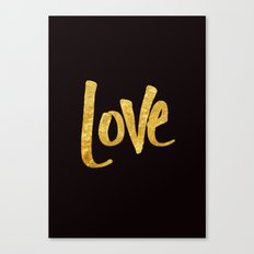 Love Handwritten Type Canvas Print