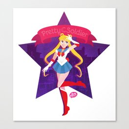 Pretty Soldier Canvas Print