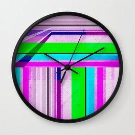 Neon Stripes 2 Wall Clock