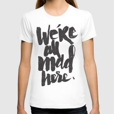 ...MAD HERE Womens Fitted Tee White X-LARGE